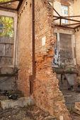 Collapsing Masonry Wall — Стоковое фото