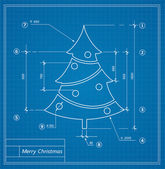 Christmas  blueprints — Stock Vector