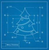 Christmas  blueprints — Stock vektor