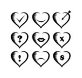 icons Valentines — Stock Vector