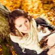 Smiling woman with cats — Stock Photo #56004489