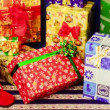 Colorful presents with bows and ribbons — Stock Video #58301447