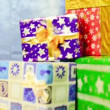 Colorful presents with bows and ribbons — Stock Video #58301777