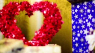 Red vanentine heart in box — Stock Video