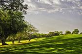 Golf-Sonnenaufgang — Stockfoto