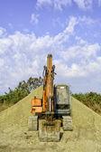 停在的挖掘机 — 图库照片