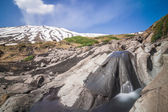 Stream flowing lava on the volcano Etna — Stock Photo
