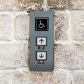 Elevator buttons for disabled — Zdjęcie stockowe