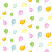 Square pattern of colorful Balloons Isolated — Stock Photo