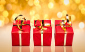 Three Red Gifts — Stock Photo