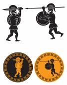 Fight between two gladiators — Stok Vektör