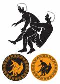 Greco Roman wrestling — Stock Vector