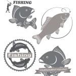 Emblems of carp fish — Stock Vector #69652343