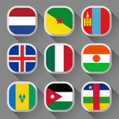 Flags of the world — Wektor stockowy