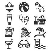 Summer icon set. — Stock Vector