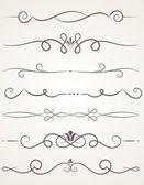 Calligraphic decorative elements. — Stock Vector