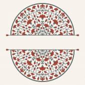 Tarjeta de invitación con ornamento floral. — Vector de stock