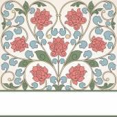 Floral oriental pattern in vintage style. — Vector de stock
