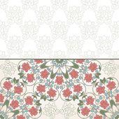 Floral oriental pattern in vintage style. — Stockvektor