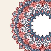 çiçek oryantal desenli. — Stok Vektör