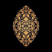 Ornamental floral element for design. — Stock Vector