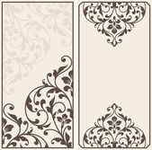 Two vintage greeting cards. — Stock Vector