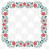 Floral oriental pattern in vintage style. — Stock Vector