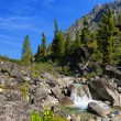 Small waterfall on a mountain river — Stock Photo #53146417