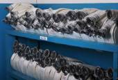 Storage of fire hoses — Stock Photo