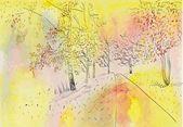Autumn landscape. — Stock Vector