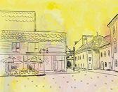 Bosquejo de la ciudad — Vector de stock