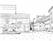 City sketch — Stock Vector