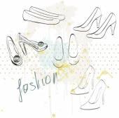 Moda buty. — Wektor stockowy