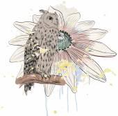 Sketch of a owl — Stock Vector