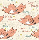 Sleeping fox. — Stock Vector