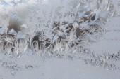 Frost Design na okno — Stock fotografie