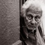 Homeless Man Afraid — Stock Photo #65795623