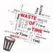 Waste of time — Stock Vector