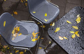 Wet cafe furniture  — Foto Stock