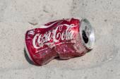 Empty Coca Cola can — Stock Photo