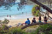 Children at Beach in Noosa National Park, Queensland Australia. — Stock Photo