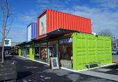 Restart Container Shops Relocated to the Western End of Cashel S — Stock Photo