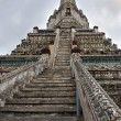 Wat Arun Temple of Dawn Steps and Tower Detail — Stock Photo #54721363