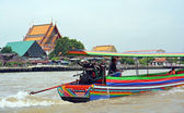 Tourist Pirate Boat on The Chao Phraya River in Bangkok — Stock Photo