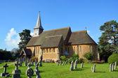 Hascombe Village Church & Graveyard, Surrey, UK. — Stock Photo