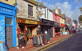 Shops in the famous Brighton North Laines District, UK. — Stok fotoğraf