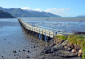 The Governors Bay Jetty at Low Tide — Stok fotoğraf