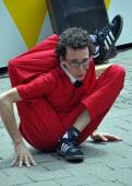 Contortionist Jonathon Burns, World Buskers Festival. — Stock Photo