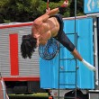 Постер, плакат: Fuse Circus Aerial Performer World Buskers Festival New Zealan