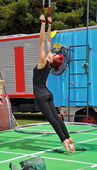 Fuse Circus Aerial Performer, World Buskers Festival, New Zealan — Stock Photo